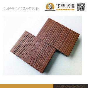 Outdoor mix color capped wood-plastic decking board