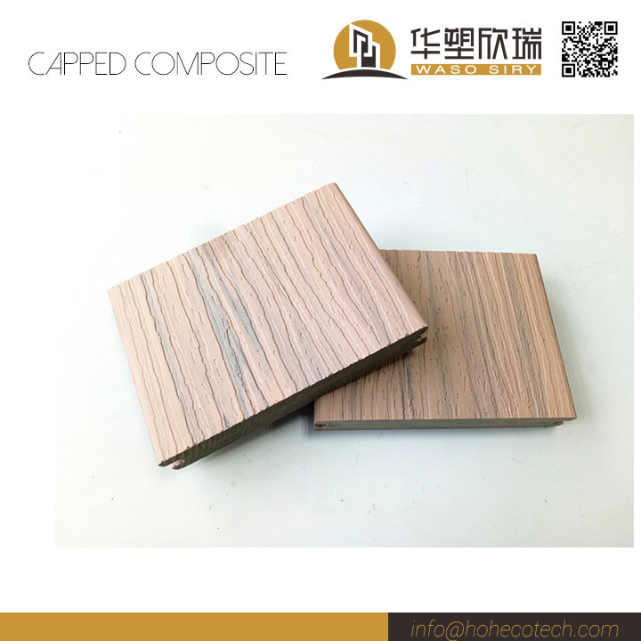 Wearable capped wood plastic composite decking china for Capped composite decking