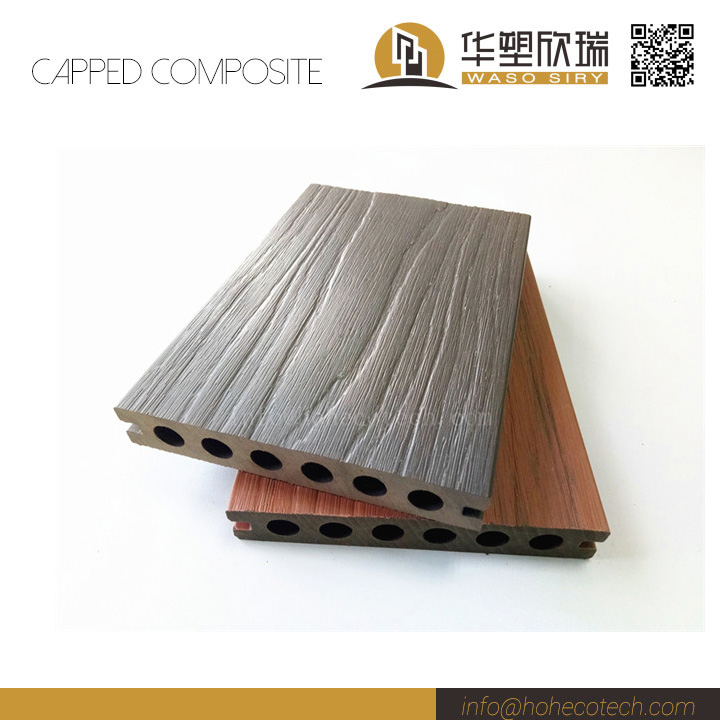 Co extrusion wood plastic composite deck floor buy for Capped composite decking prices