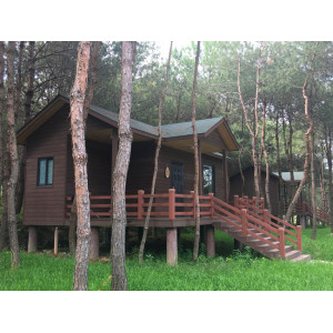 Outdoor leisure wpc wooden house