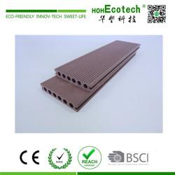 Outdoor easy installation round hole wpc composite deck floor