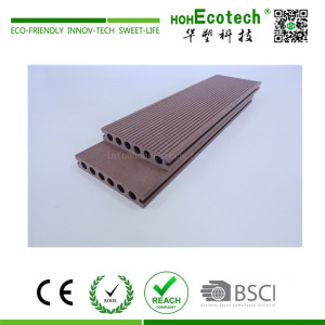 Outdoor easy installation round hole wpc composite deck floor