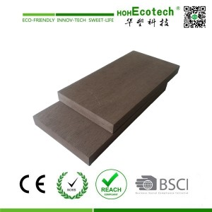 Solid wood plastic composite marina decking floor