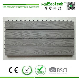 300*600 mm big size wpc interlocking deck tile