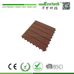 WPC wood plastic composite deck tile 40S40