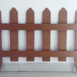 Outdoor non-fading wpc grid fence