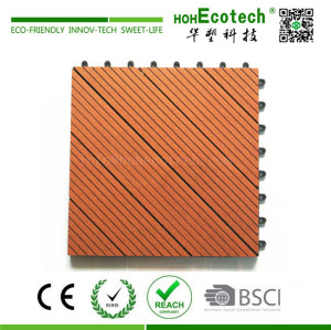 Landscaping wood plastic composite deck tile