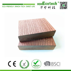 High strength wood plastic composite floating dock
