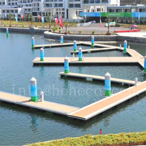 Wood plastic composite floating dock decking