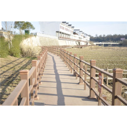 Outdoor landscaping wooden railing material