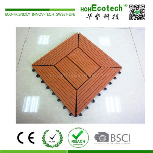 Home terrace decoration DIY interlocking wpc composite deck tile floor