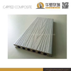 Smoke white color solid capped composite deck flooring