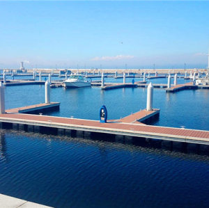 Waterproof anti cracking plastic wood composite marina deck covering