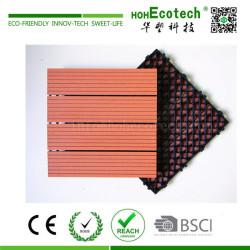 Home balcony interlocking plastic base wooden composite deck tile