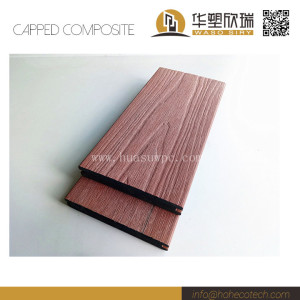 Ultra low maintenance brushing surface co-extrusion wpc composite solid deck floor