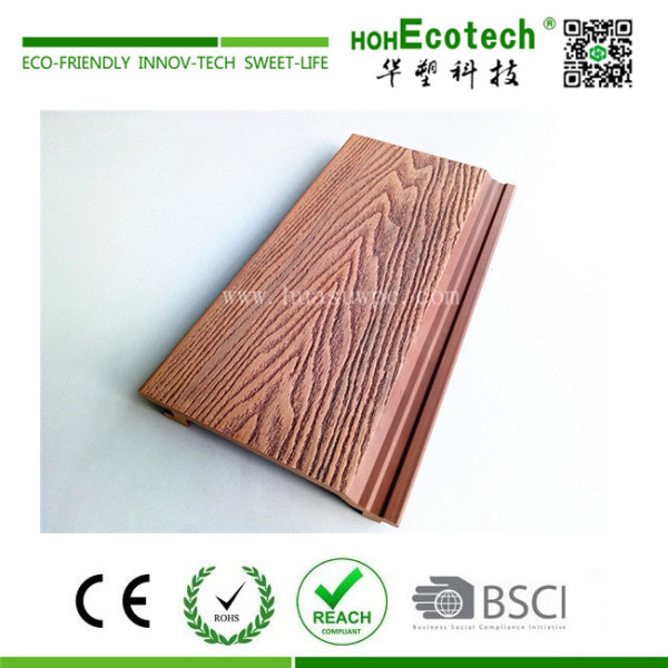 3D deep embossing mixed color wood plastic composite wall cladding