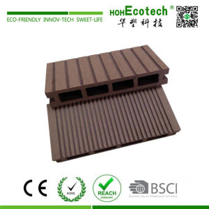 Outdoor waterproof cheap wooden composite hollow decking floor