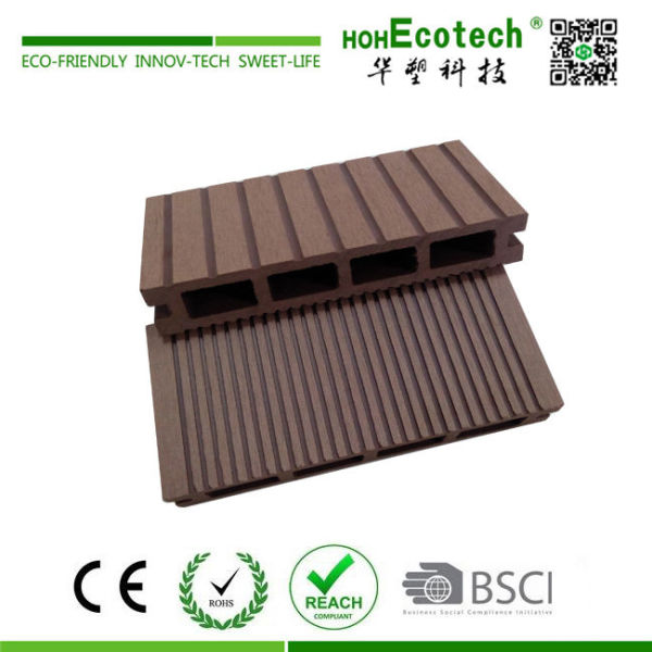 Outdoor waterproof cheap wooden composite hollow decking floor