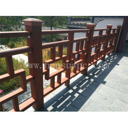 Good design durable external wooden composite railing