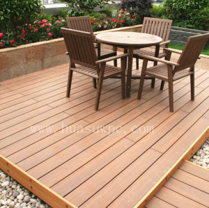 Outdoor co-extrusion wood plastic composite deck flooring