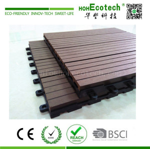 No painting easy install wood plastic composite decking tile