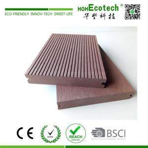 Anti-cracking durable outdoor wood plastic composite solid decking floor
