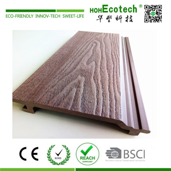 Exterior wall decorative wood plastic composite panel