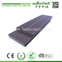 Low maintenance outdoor wooden composite deck floor
