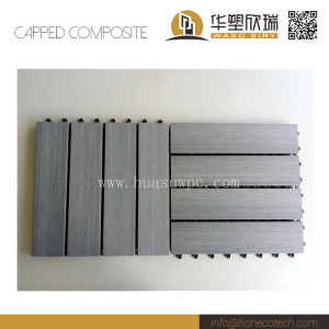 External waterproof co-extrusion wood plastic composite floor tile
