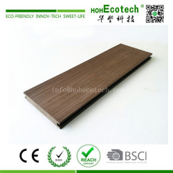 Outdoor wood plastic composite floor decking with deep wood grain