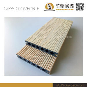 New outdoor co-extrusion wood plastic composite hollow decking