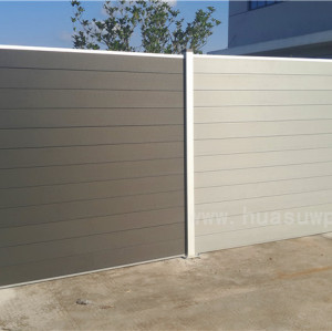 Outdoor wood pladtic composite fence