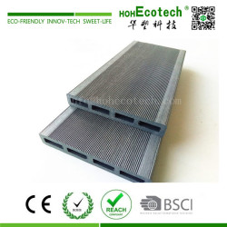 Outdoor anti cracking wood plastic composite fence panel