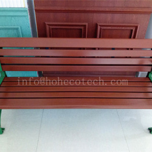 Outdoor waterproof wood plastic composite bench