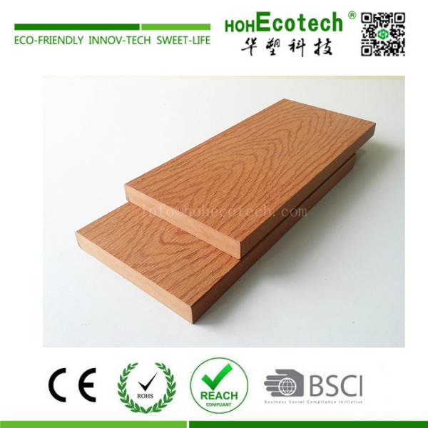 Anti-termite embossed wood grain wpc composite solid decking