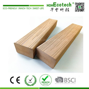 3D embossed mixed color wood plastic composite bench slat