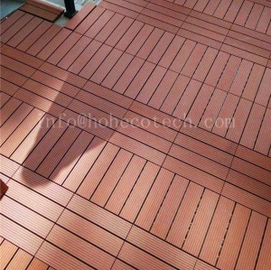 WPC interlocking balcony tile floor