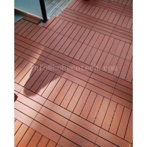 WPC interlocking balcony tile floor