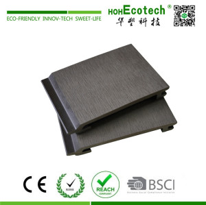 External interlocking wood plastic composite wall panel
