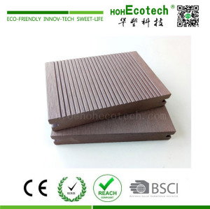 Solid outdoor wood plastic composite decking