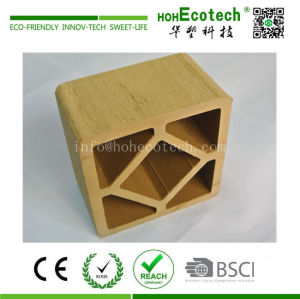Anti cracking garden plastic wood composite railing post