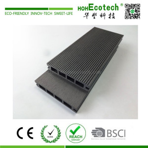2018 new wood plastic composite hollow decking