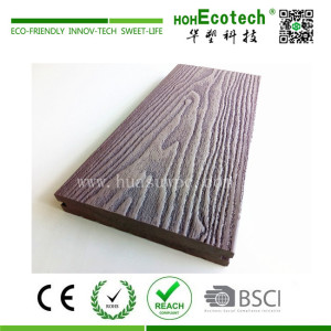 3D embossed wpc composite decking