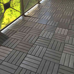 Low maintenance co-extrusion DIY balcony tile flooring