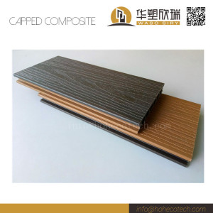 Outdoor co-extrusion double colors wpc deck flooring