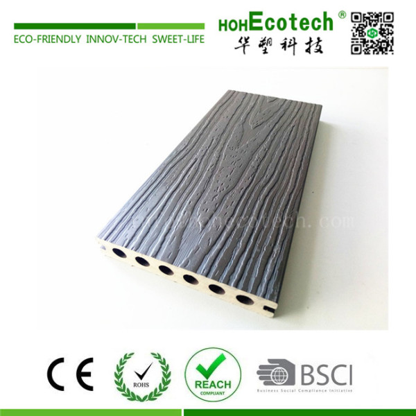 Co-extrusion wood plastic composite decking for riverbank