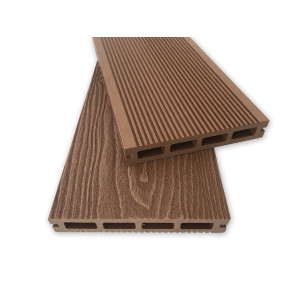 3D deep wood texture embossing wpc hollow decking