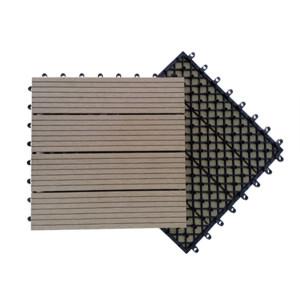 Sol en carreaux de wpc de conception de mode de verrouillage de base en plastique