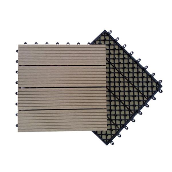 Plastic base interlocking fashion design wpc tile floor