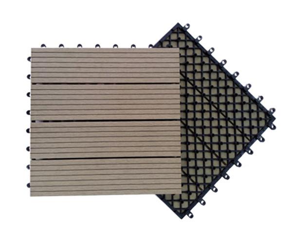 Base de plástico intertravada, design de moda, piso de ladrilho wpc